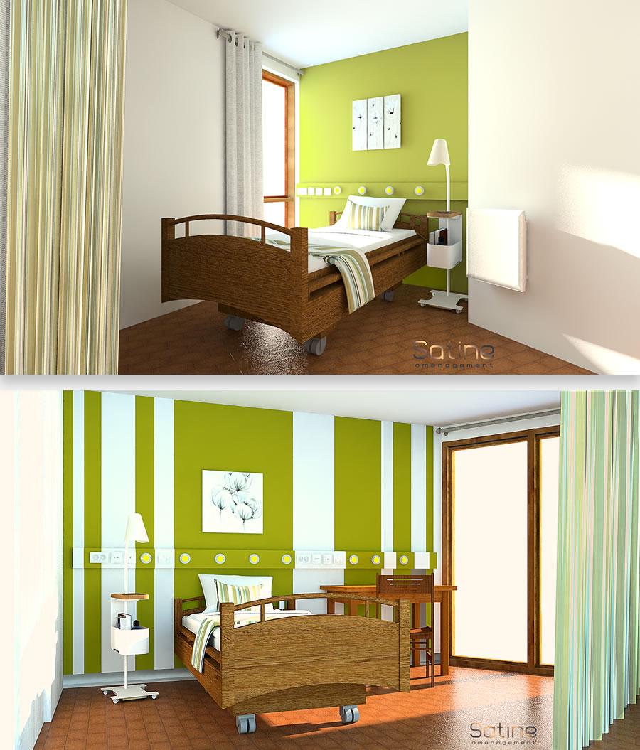 Aménagement EHPAD de Caire Val à Rognes (13) - Projet de chambre à double lit