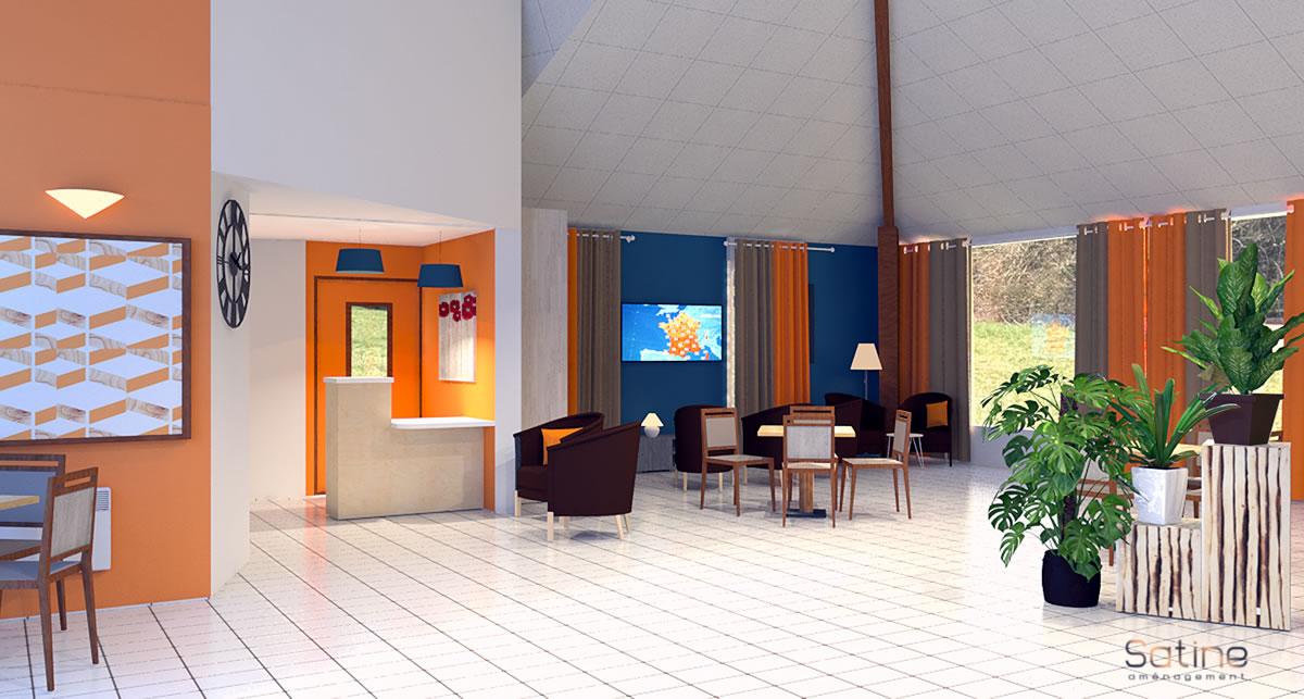 Rénovation EHPAD de Barneville - Projet du Hall et de la banque d'accueil