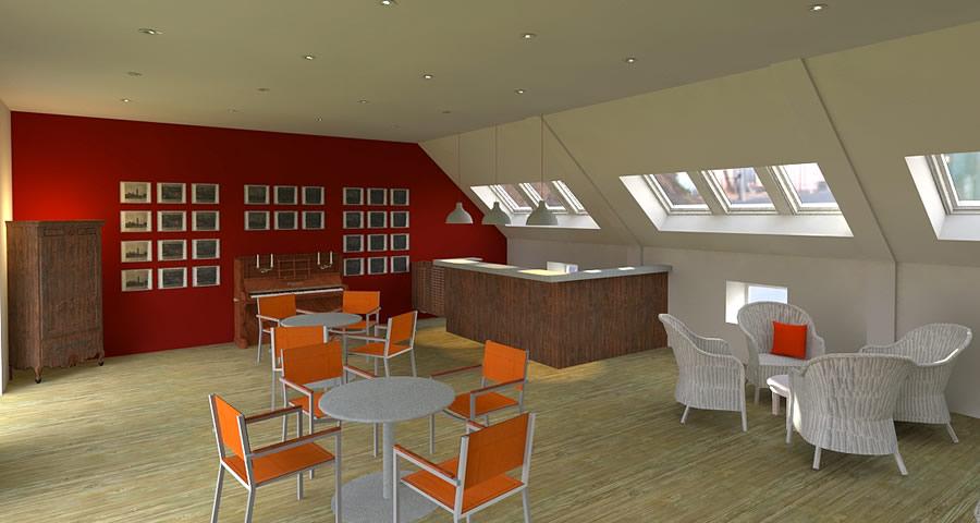 Rénovation EHPAD de la Maison Ferrari - projet de l'espace bar