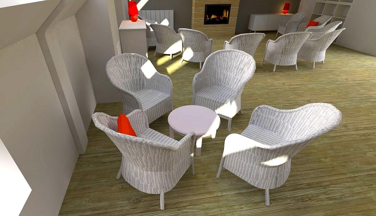 Rénovation EHPAD de la Maison Ferrari à Clamart (92) - Projet du coin salon
