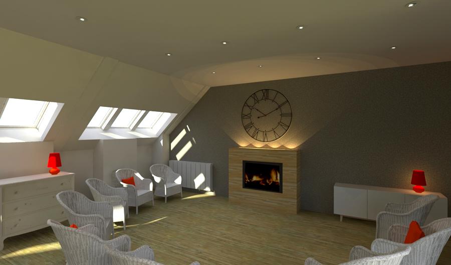 Rénovation EHPAD de la Maison Ferrari -projet de l'espace salon