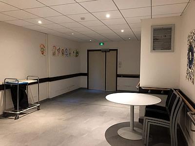 Rénovation EHPAD de l'Union Belge -Bibliothèque avant les travaux