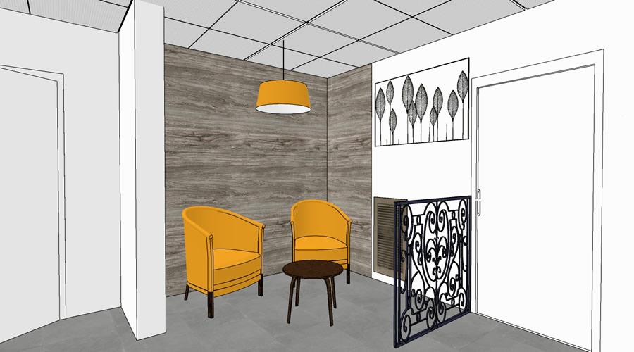 Rénovation EHPAD de l'Union Belge (92) - sac -projet avec les fauteuils