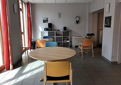 renovation EHPAD - Saulx - coin salon avant les travaux