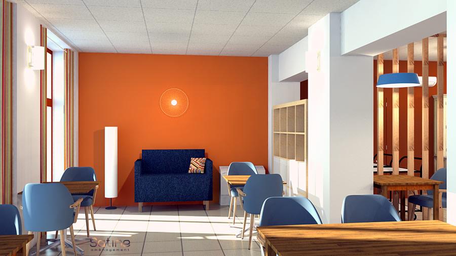 rénovation EHPAD de Saulx - projet du coin salon