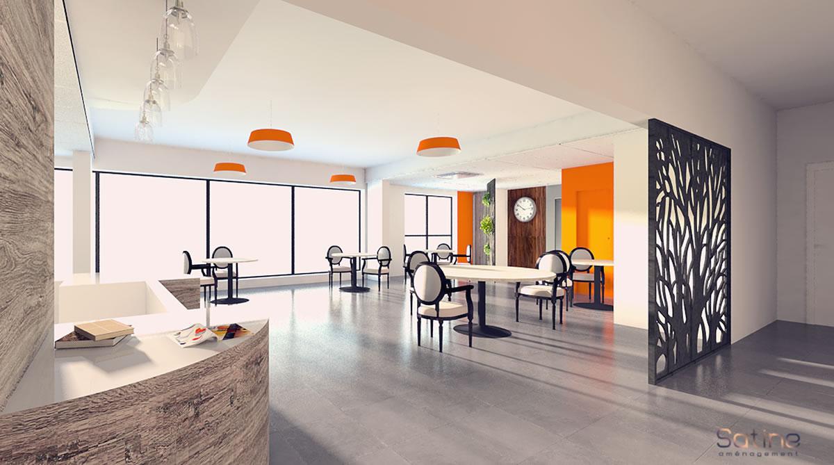 Rénovation EHPAD de l'Union Belge - projet de la salle à manger