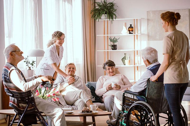 Personnes âgées dans un EHPAD