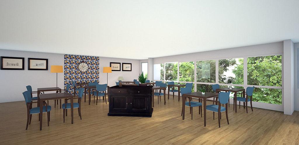 Projet de rénovation de la salle à manger d'un EHPAD