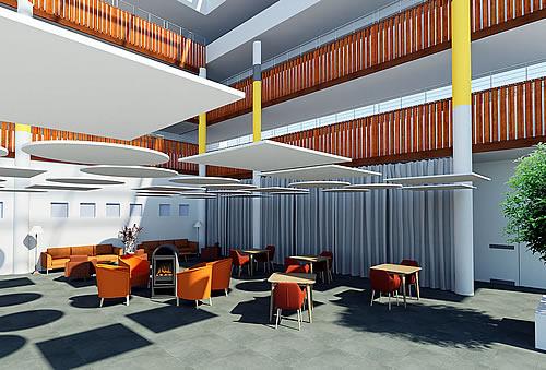Rénovation EHPAD : transformation de l'accueil et de la pièce de vie en atrium